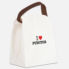 I Love FUNCTOR Canvas Lunch Bag