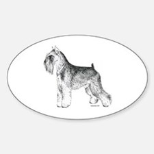 Miniature Schnauzer Oval Decal