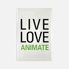 Live Love Animate Rectangle Magnet