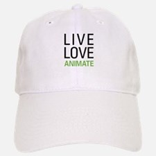 Live Love Animate Baseball Baseball Cap