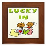 Lucky in Love Framed Tile