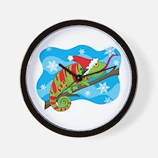 Christmas Chameleon Wall Clock