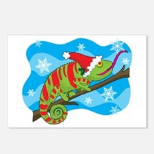 Christmas Chameleon Postcards (Package of 8)