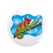 "Christmas Chameleon 3.5"" Button"