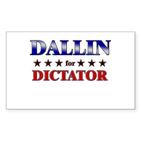 DALLIN for dictator Rectangle Sticker