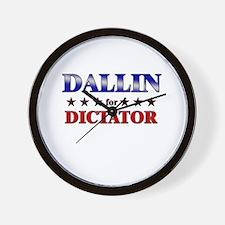 DALLIN for dictator Wall Clock