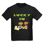 Lucky in Love Kids Dark T-Shirt