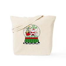 Snowglobe Santa Baby 1st Xmas Tote Bag