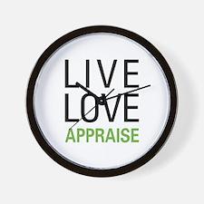 Live Love Appraise Wall Clock