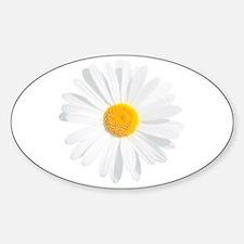 Cute Flower daisy Sticker (Oval)