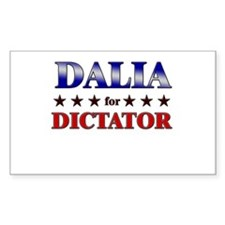 DALIA for dictator Rectangle Decal