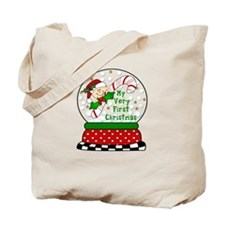 Snow Globe/Peeking Baby Candy Tote Bag