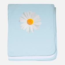 fresh white daisy baby blanket