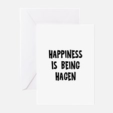 Happiness is being Hagen Greeting Cards (Pk of 10)
