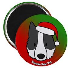 Cartoon Shar Pei Christmas Magnet