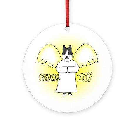 Peace Joy Karelian Bear Dog Christmas Ornament