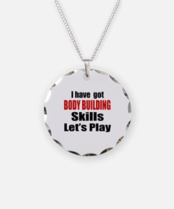 I Have Got Body Building Ski Necklace