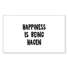 Happiness is being Hagen Rectangle Decal