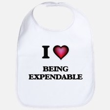 I love Being Expendable Bib