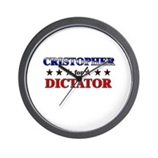 CRISTOPHER for dictator Wall Clock