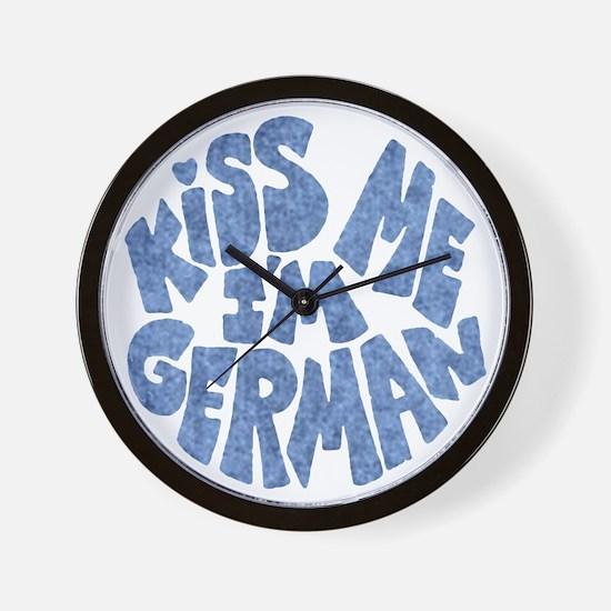 German Kiss - Blue - Wall Clock