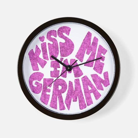 German Kiss - Pink - Wall Clock