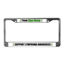 Think Lime Green Lymphoma License Plate Frame