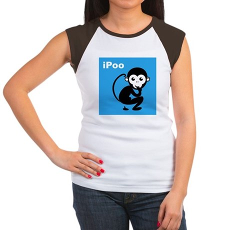iPoo Monkey Women's Cap Sleeve T-Shirt