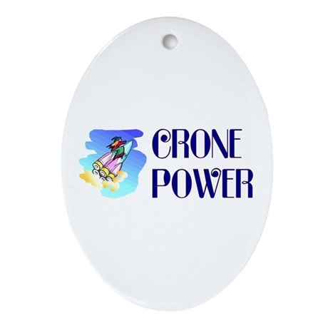 Crone Power Oval Ornament