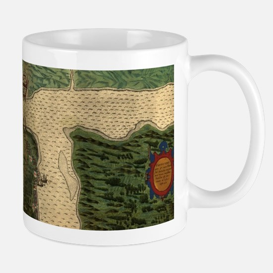 Vintage Map of St. Augustine Florida (1589) Mugs