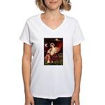 Angel / Irish Setter Women's V-Neck T-Shirt