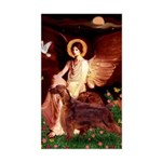 Angel / Irish Setter Sticker (Rectangle)