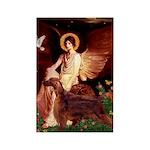 Angel / Irish Setter Rectangle Magnet
