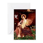 Angel / Irish Setter Greeting Cards (Pk of 20)