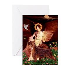 Angel / Irish Setter Greeting Cards (Pk of 10)