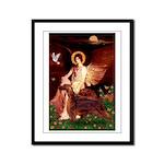 Angel / Irish Setter Framed Panel Print