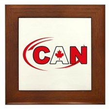 Country Code Canada Framed Tile
