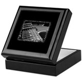 Bass player Square Keepsake Boxes