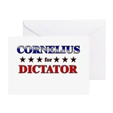 CORNELIUS for dictator Greeting Card
