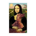 Mona /Irish Setter Sticker (Rectangle)