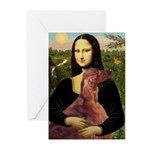 Mona /Irish Setter Greeting Cards (Pk of 10)