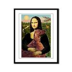 Mona /Irish Setter Framed Panel Print