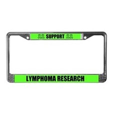 Support Lymphoma Research License Plate Frame