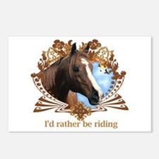 Rather Be Riding Horse Crest Postcards (Package of