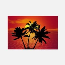 Cute Tropical Rectangle Magnet