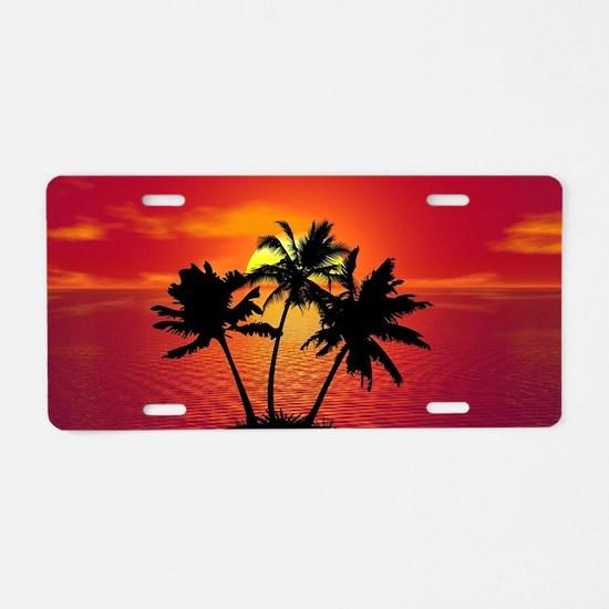 Cute Background Aluminum License Plate