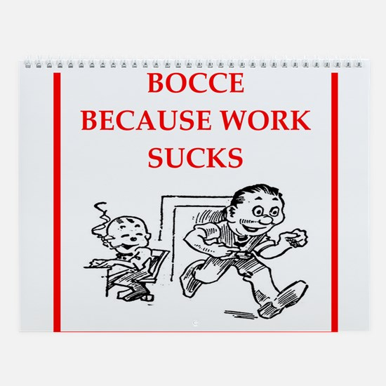 Bocce Player Wall Calendar