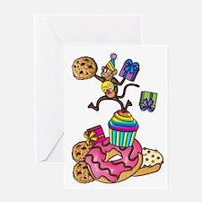 Emoji Monkey Cupcake Candy Birthday Greeting Cards