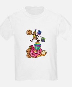 Emoji Monkey Cupcake Candy Birthday T-Shirt