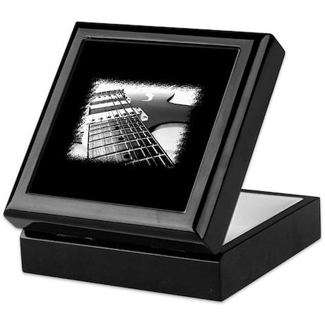 Electric Guitar 1 Negative Keepsake Box